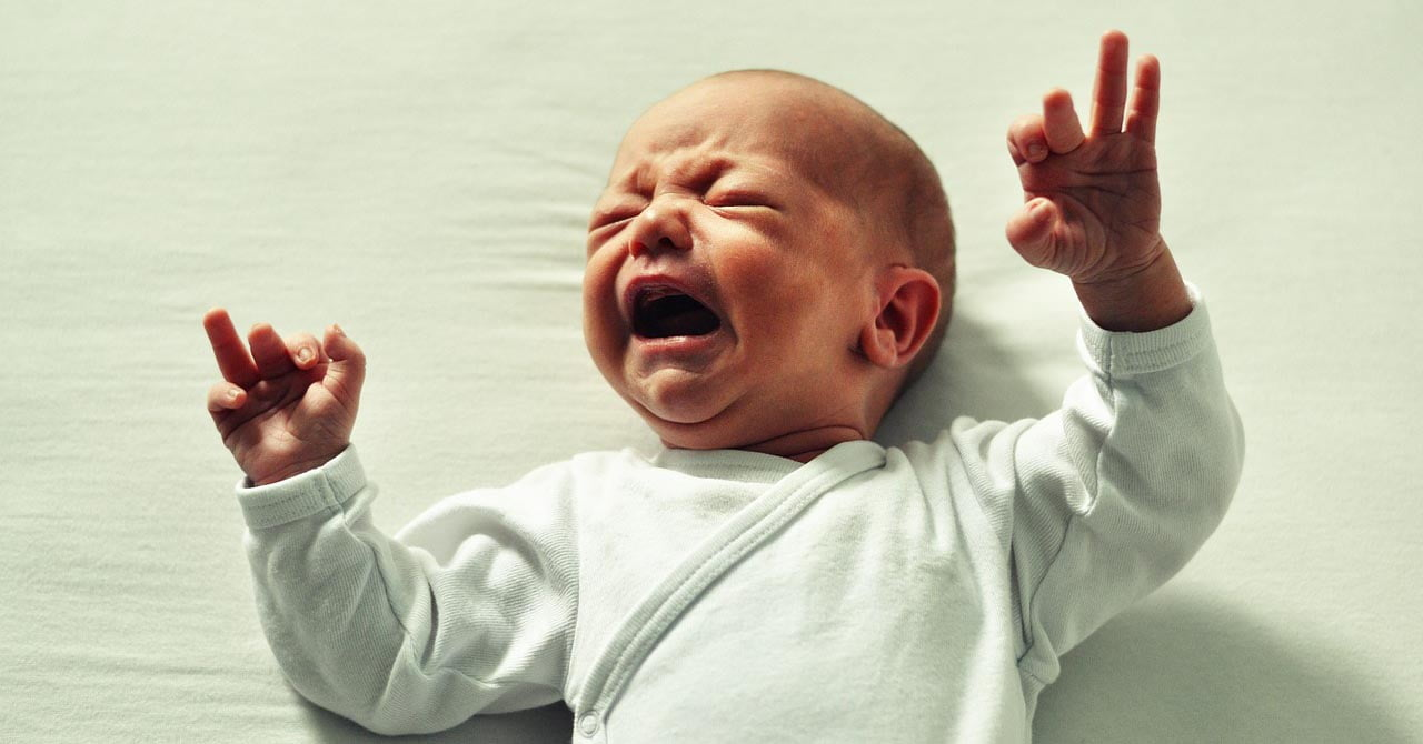 Baby in pain with colic